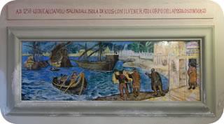il pio Leone salpa da Chios